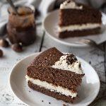 Каштановый торт с кремом из рикотты и маскарпоне